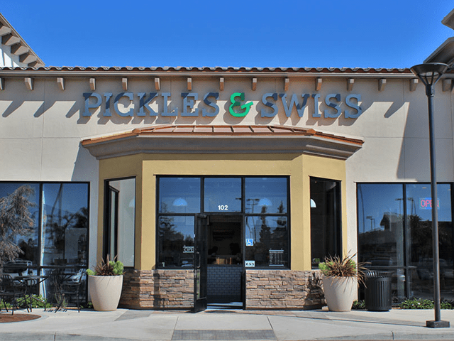 Pickles & Swiss, a gourmet sandwich shop in downtown Santa Barbara, has opened a new location in the Hollister Village shopping center in Goleta. (Sam Goldman / Noozhawk photo)