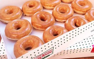 Warm doughnuts, long lines at Krispy Kreme's Santa Maria grand opening